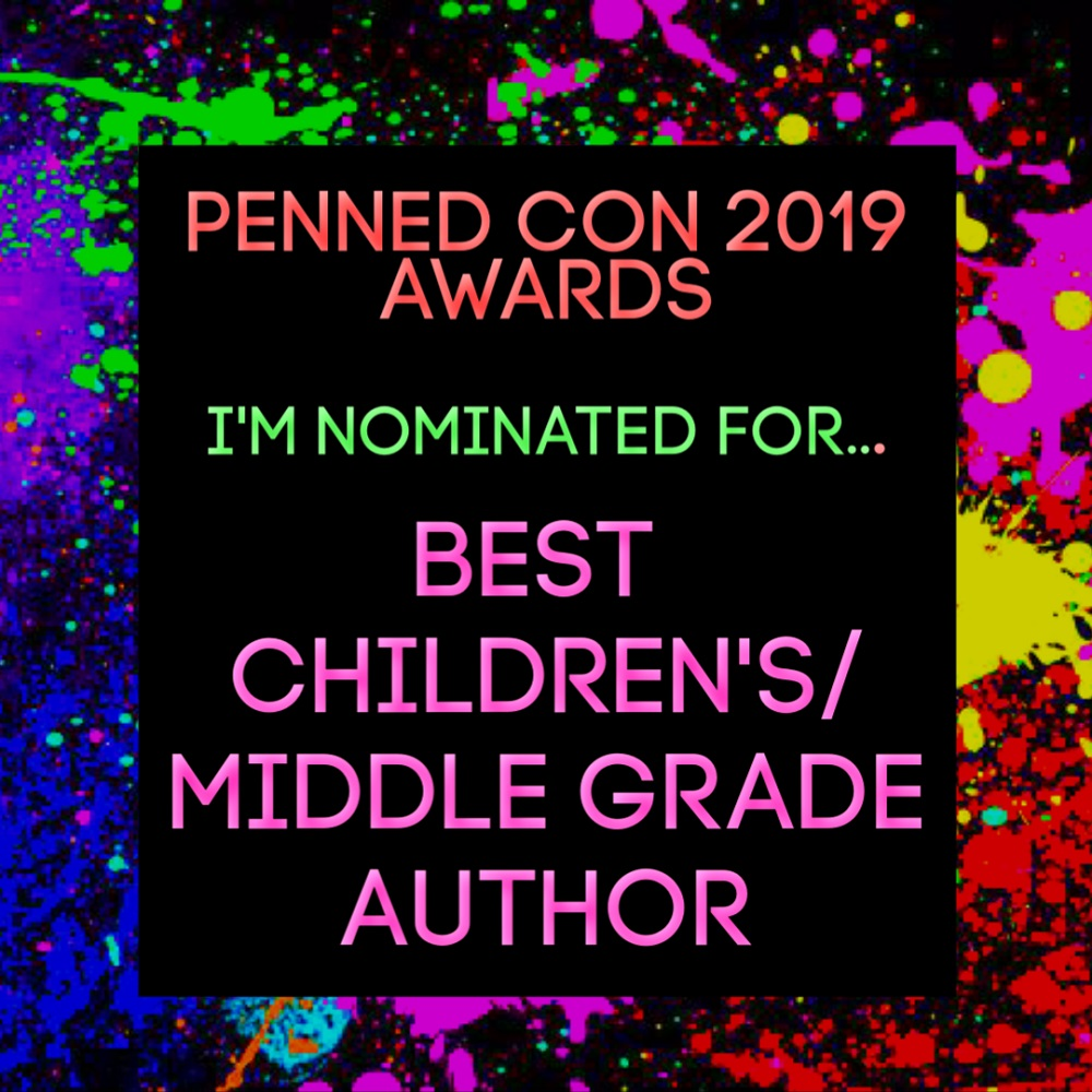 Penned Con 2019 Awards. I'm nominated for Best Children's/Middle Grade Author