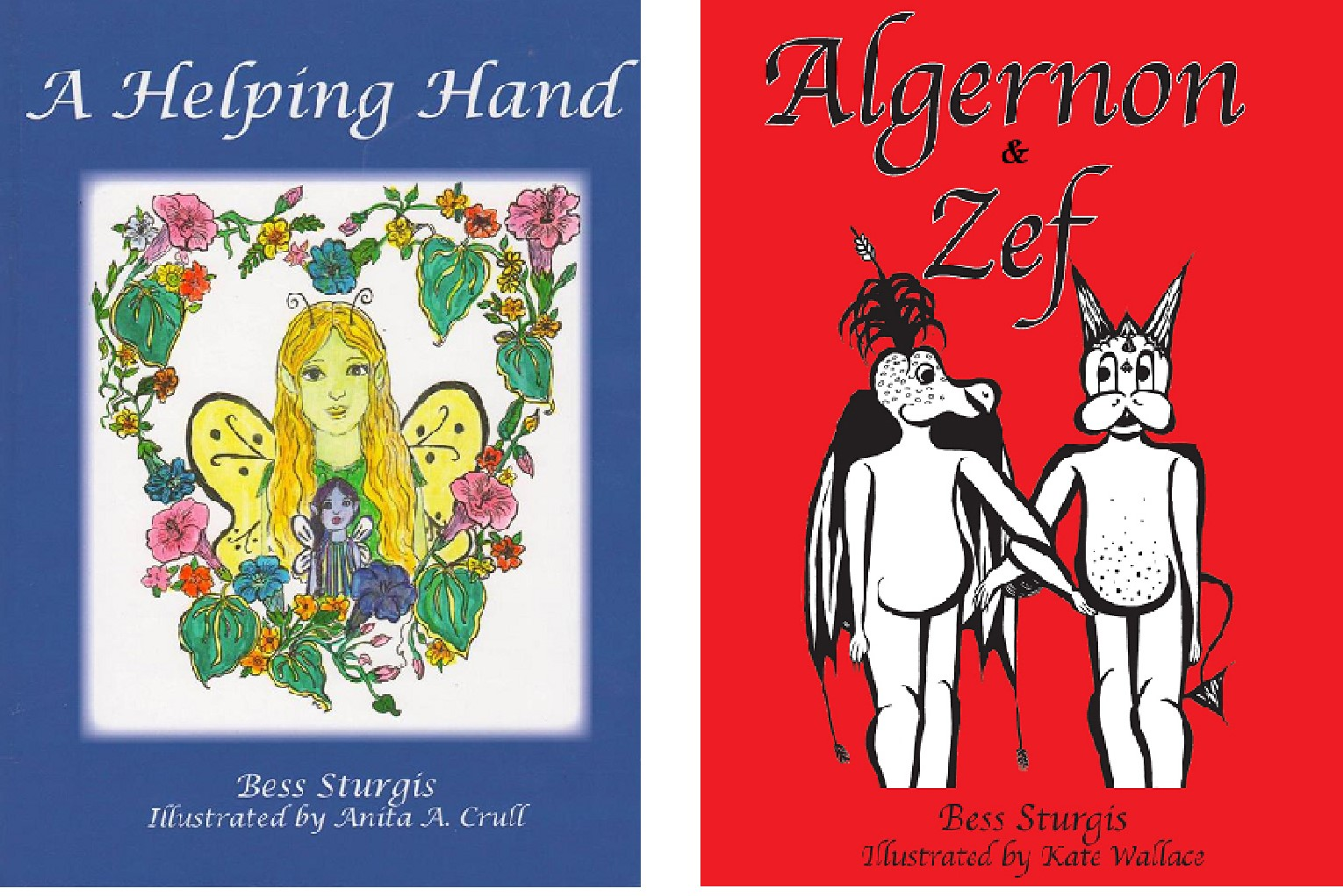 Cover artwork for Algernon and Zef and A Helping Hand: A Fairy Grandmother Tale